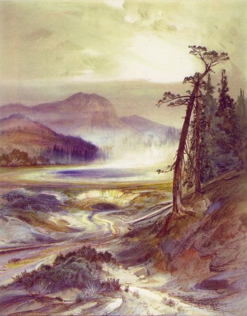 Excelsior Geyser Yellowstone Park 1873National Museum Of American Art Washington | Thomas Moran | Oil Painting