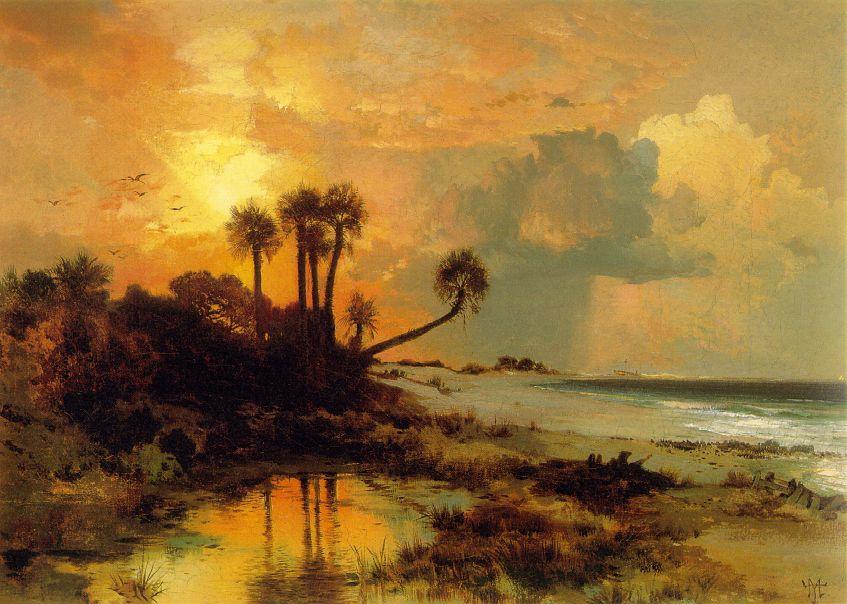 Fort George Island 1880 | Thomas Moran | Oil Painting