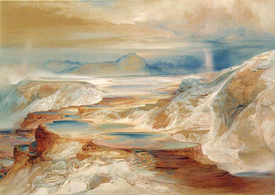 Hot Springs Of Gardiners River 1872 | Thomas Moran | Oil Painting