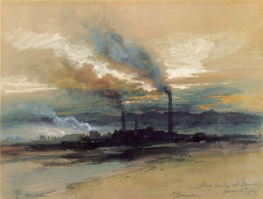 Smelting Works At Denver 1892 | Thomas Moran | Oil Painting