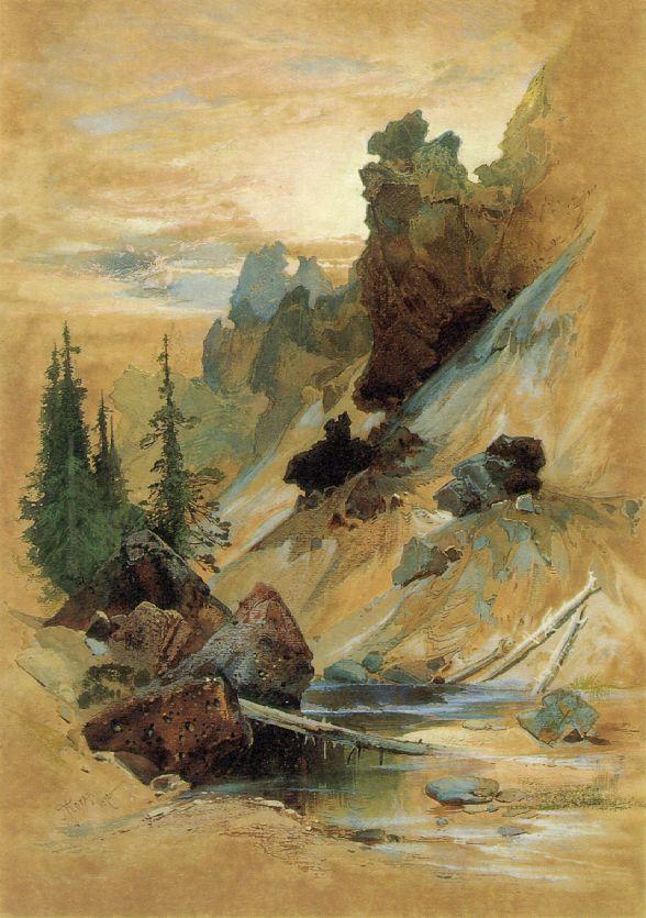 The Devils Den On Cascade Creek 1872 | Thomas Moran | Oil Painting