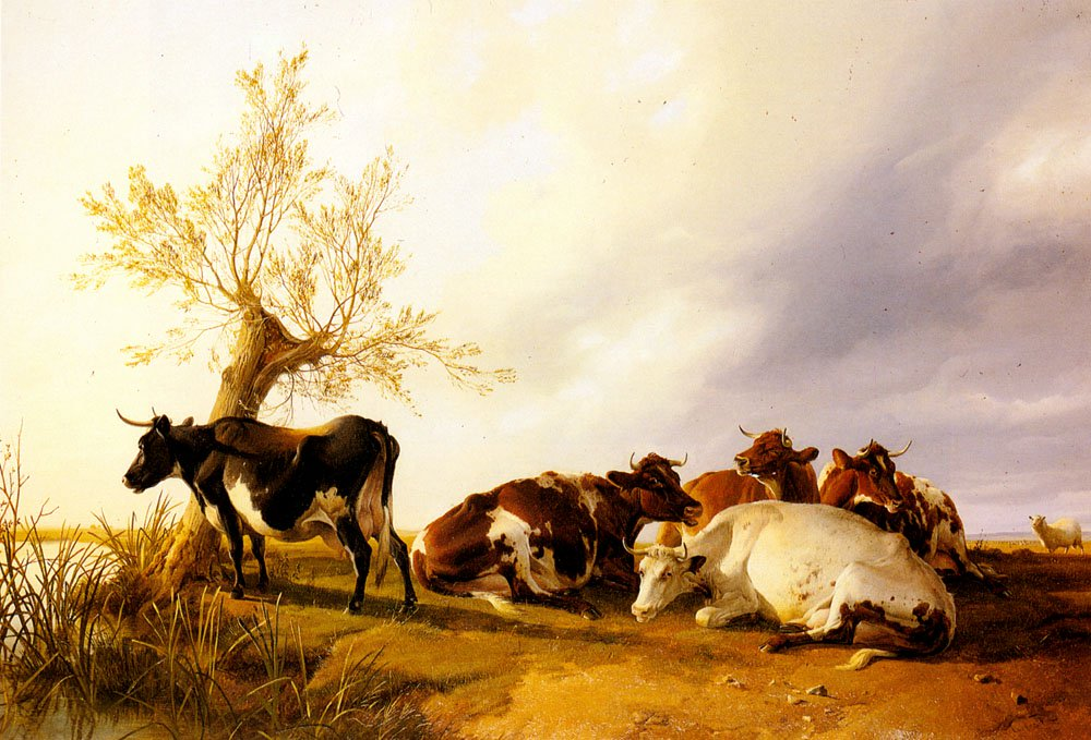 Dairy Cows Resting | Thomas Sidney Cooper | Oil Painting