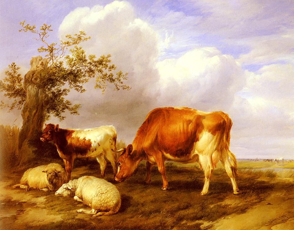 In The Canterbury Meadows | Thomas Sidney Cooper | Oil Painting