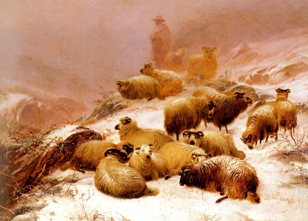 The Chill Of Winter | Thomas Sidney Cooper | Oil Painting