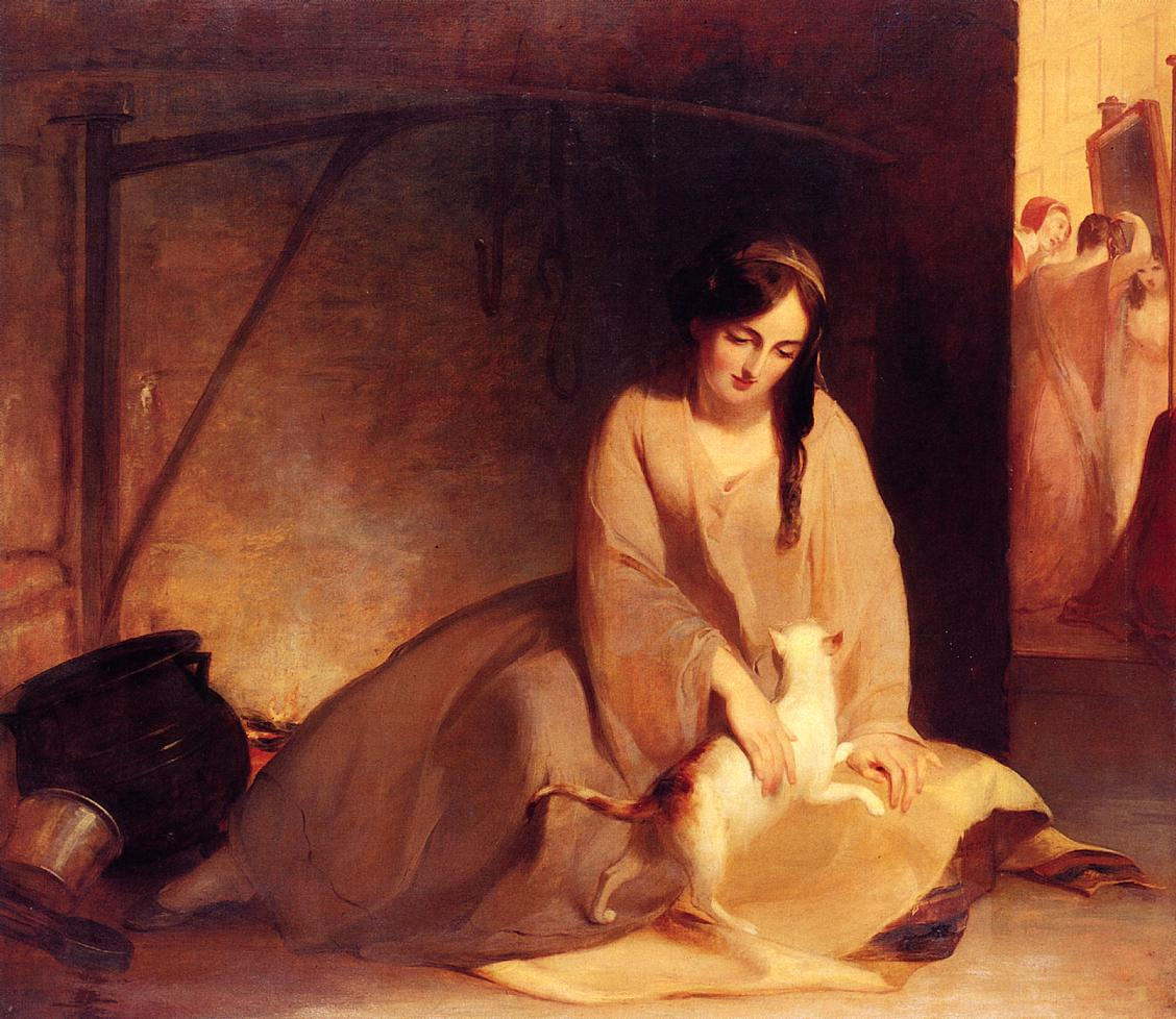 Cinderella at the Kitchen Fire 1843 | Thomas Sully | Oil Painting