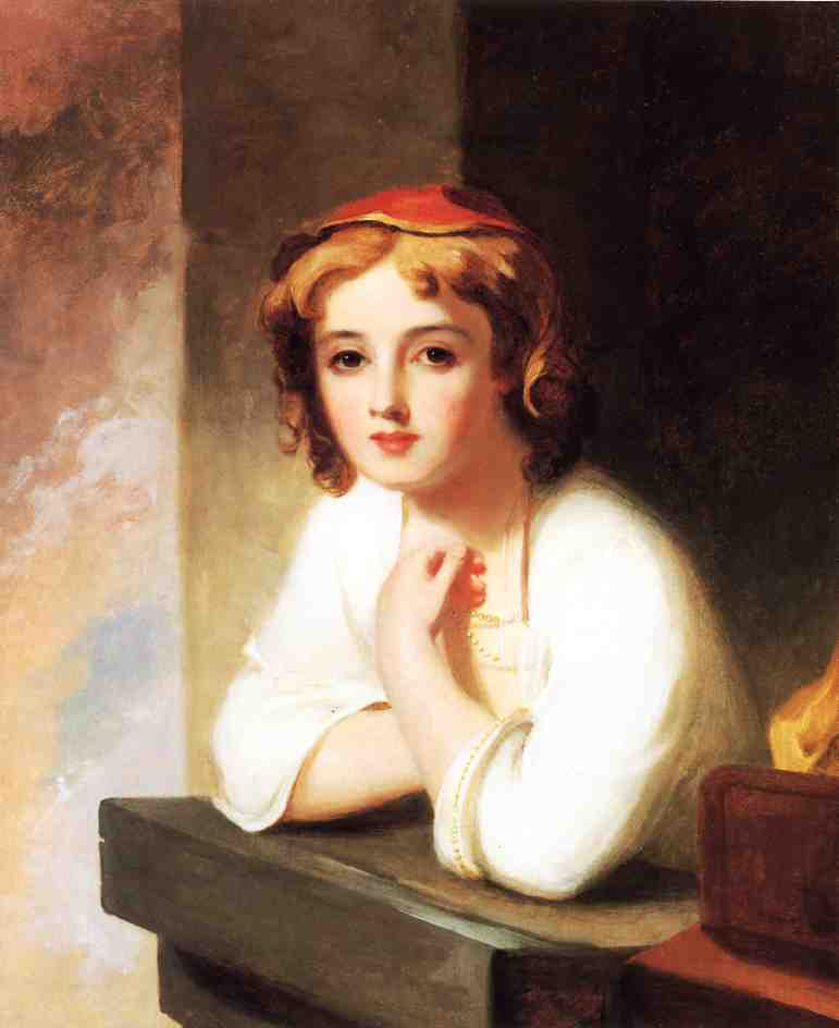 Girl Leaning at a Window | Thomas Sully | Oil Painting