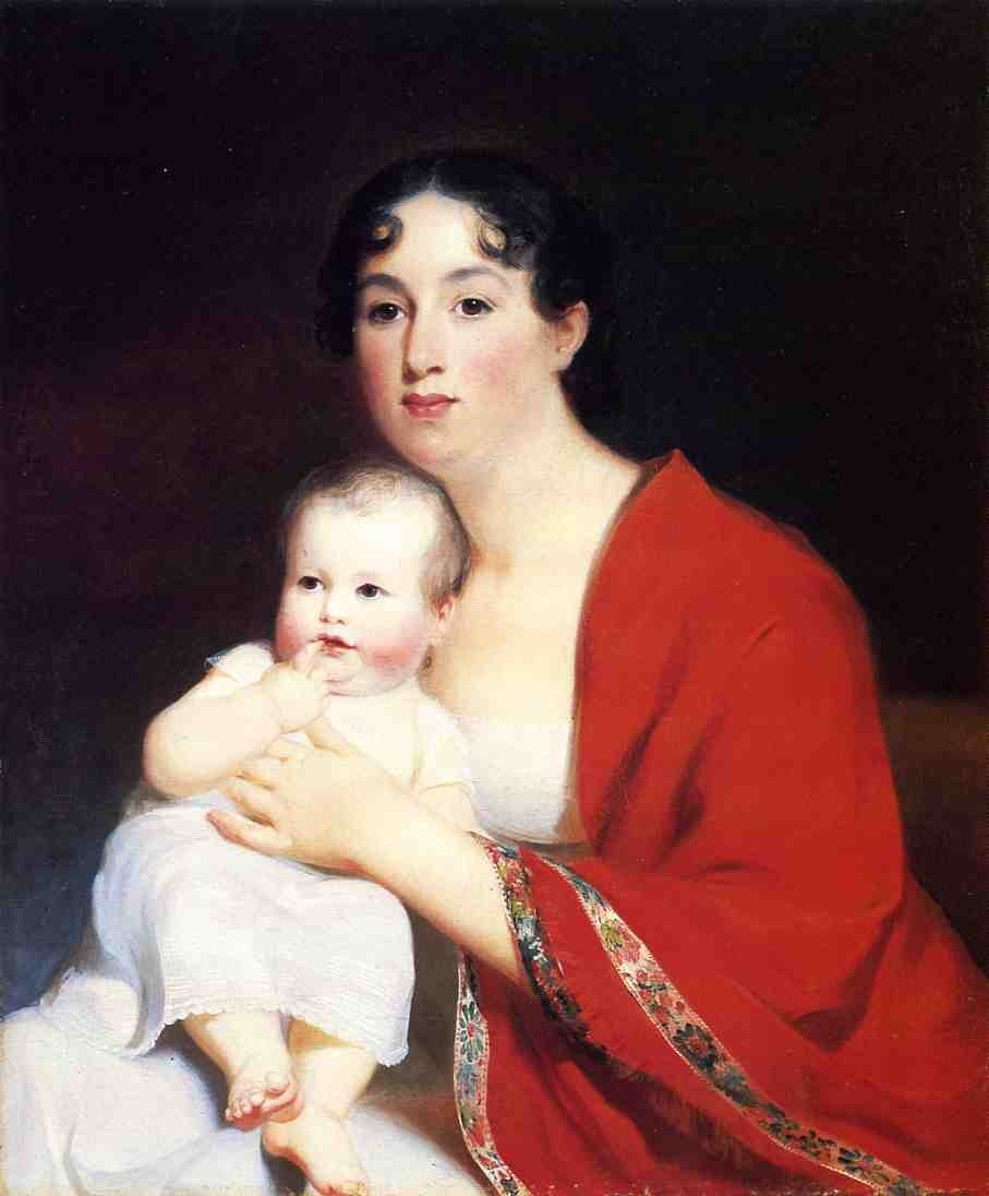 Madame Brujere and Child | Thomas Sully | Oil Painting