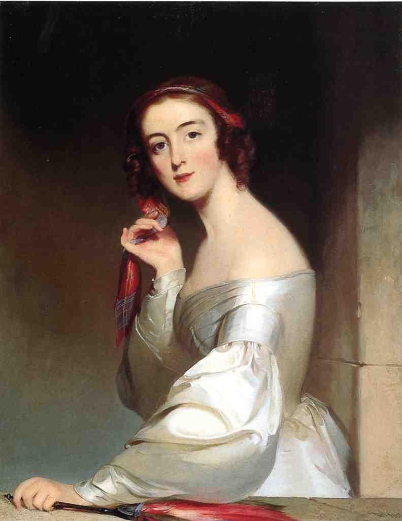 Portrait of Miss Ann Elliott Beaufort South Carolina 1839 | Thomas Sully | Oil Painting