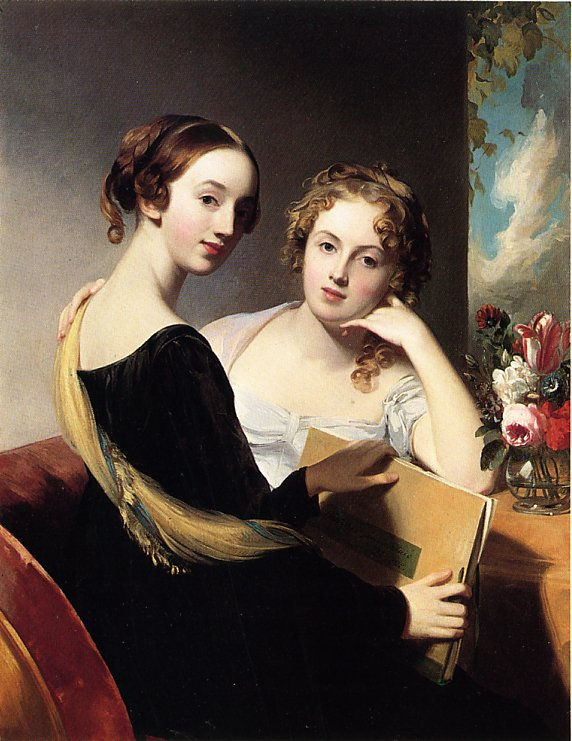 Portrait of Misses Mary and Emily McEuen 1823 | Thomas Sully | Oil Painting