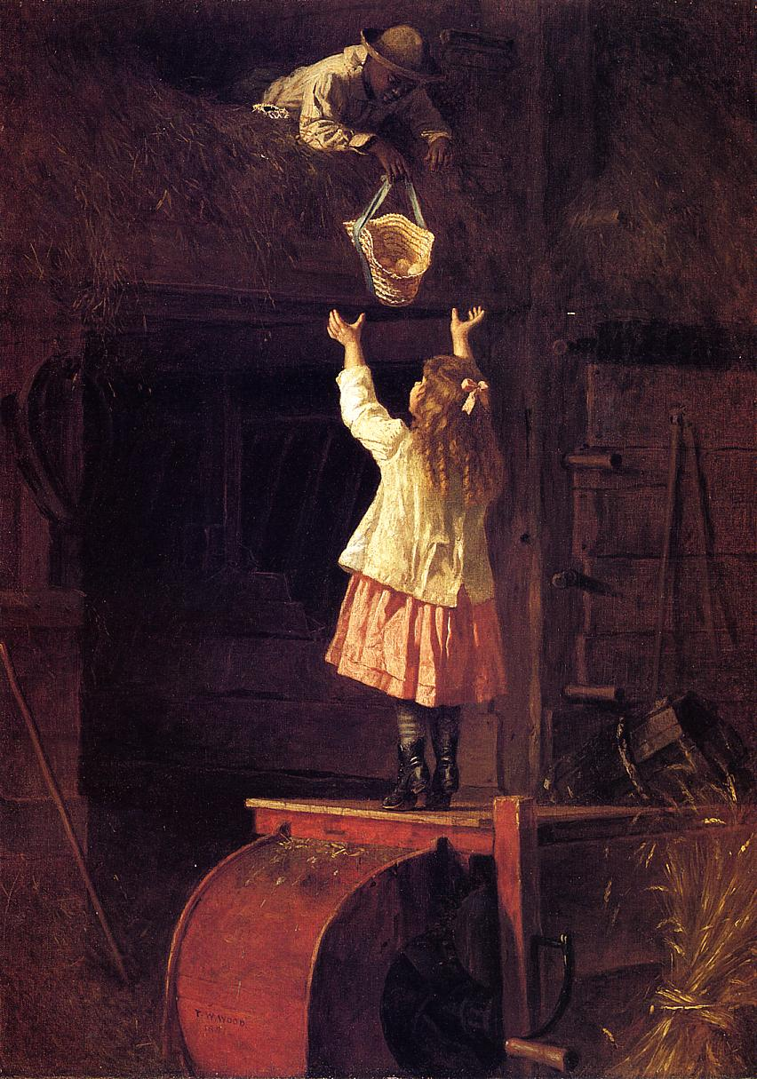 Fresh Eggs  1881 | Thomas Waterman Wood | Oil Painting