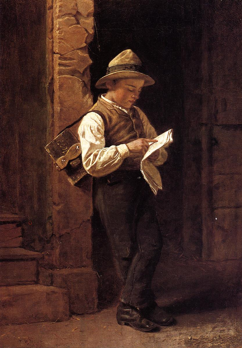 Spelling it Out  1879 | Thomas Waterman Wood | Oil Painting