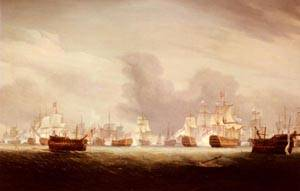The Battle Of The Glorious 1st Of June 1794 | Thomas Whitcombe | Oil Painting