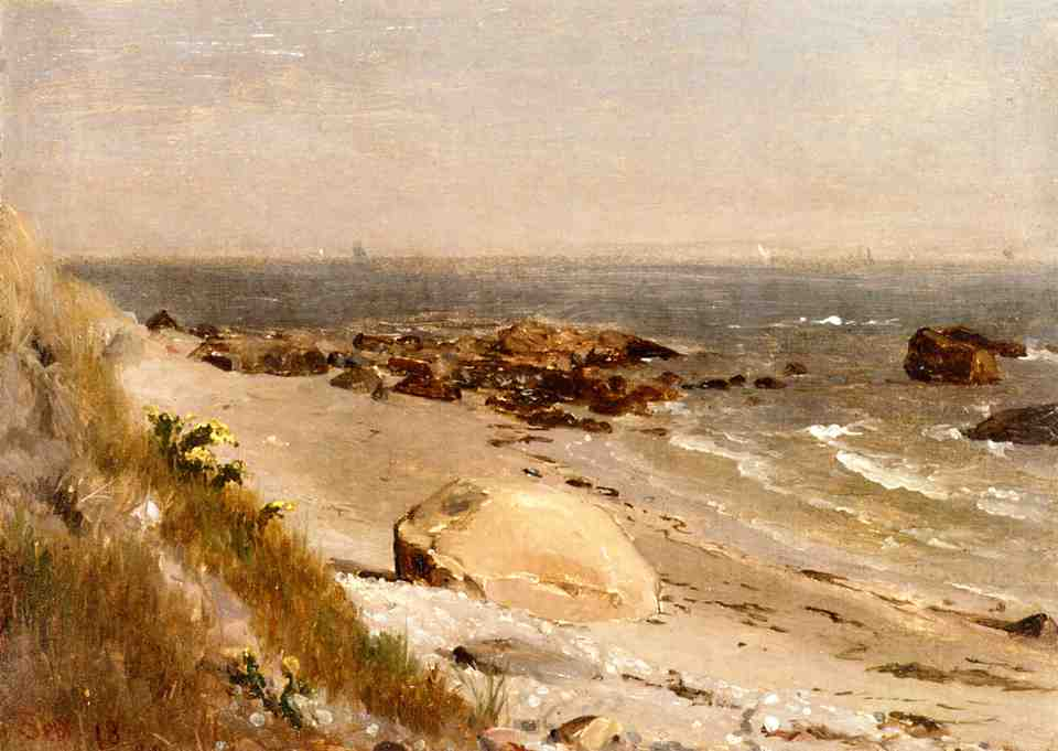 Beach Scene Narragansett Bay 1880 | Thomas Worthington Whittredge | Oil Painting