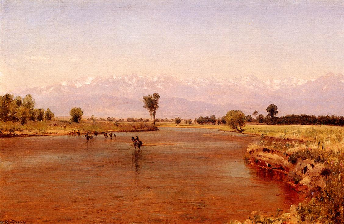 Crossing the Platte 1870 | Thomas Worthington Whittredge | Oil Painting