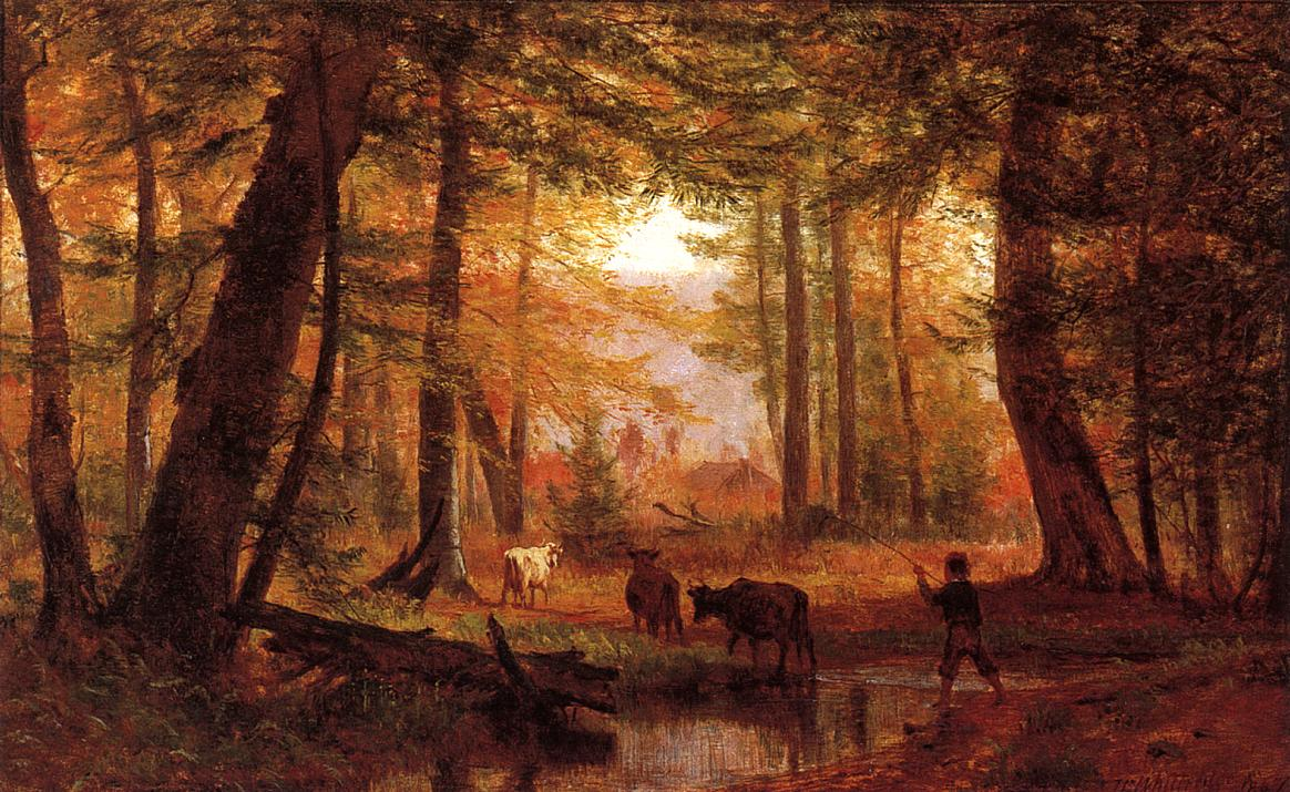 Crossing the Stream 1867 | Thomas Worthington Whittredge | Oil Painting