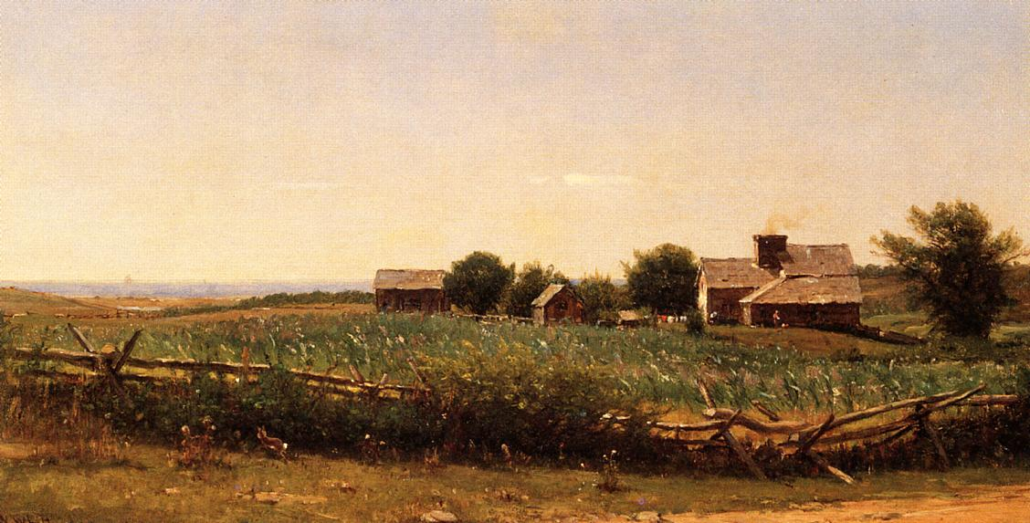 Farm by the Shore 1881-1889 | Thomas Worthington Whittredge | Oil Painting