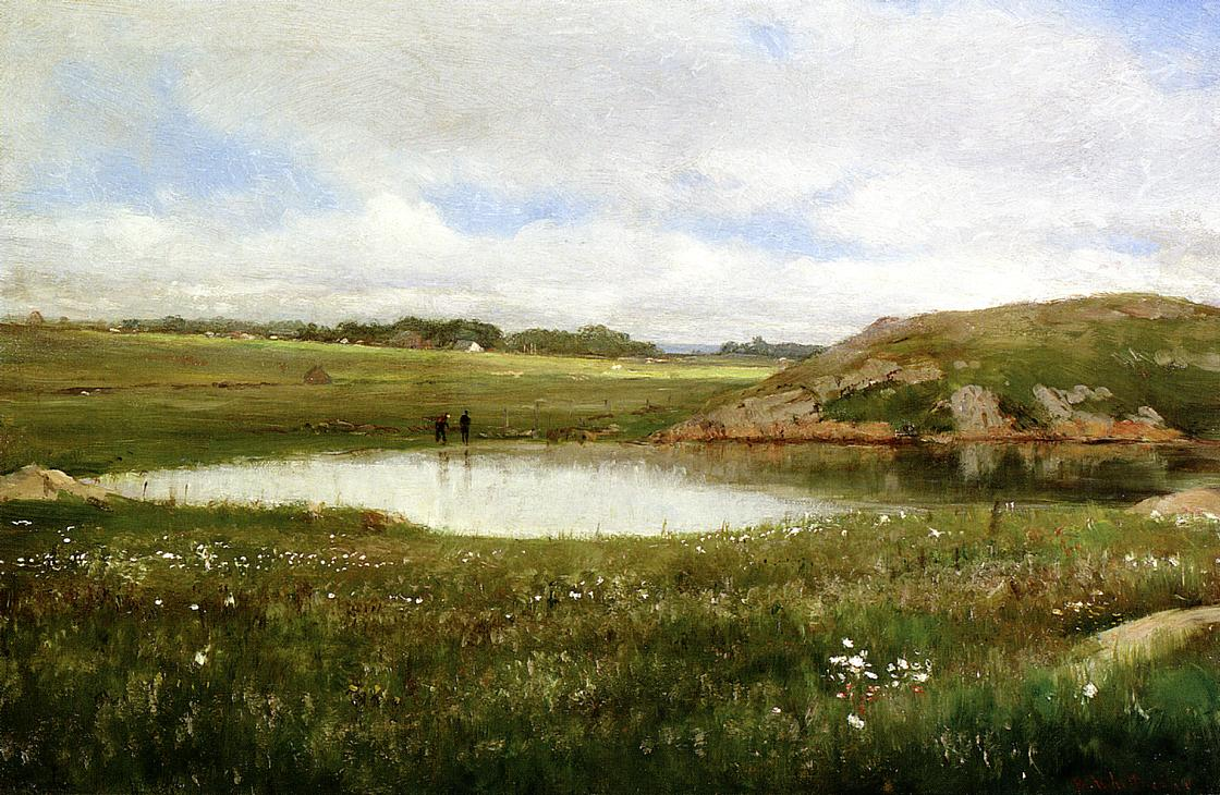 Freshwater Pond in Summer - Rhode Island | Thomas Worthington Whittredge | Oil Painting