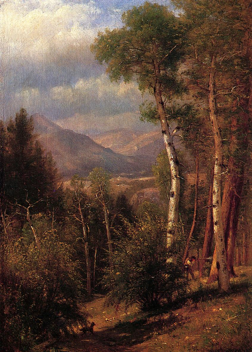 Hunter in the Woods of Ashokan 1868 | Thomas Worthington Whittredge | Oil Painting