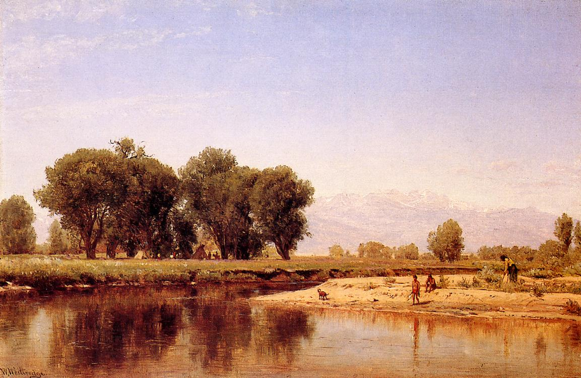 Indian Emcampment on the Platte River 1870-1872 | Thomas Worthington Whittredge | Oil Painting