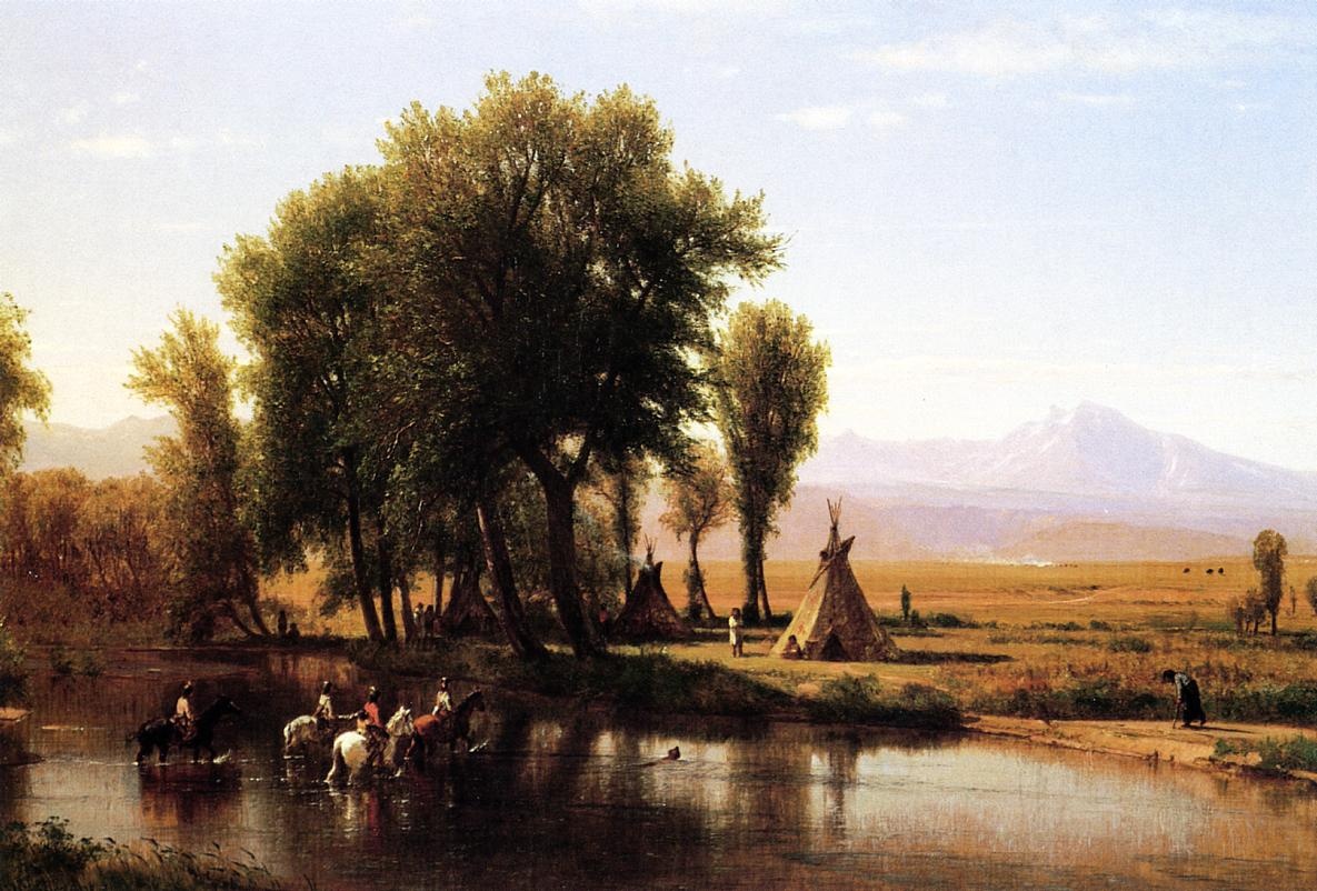Indian Encampment on the Platte River 1868 | Thomas Worthington Whittredge | Oil Painting