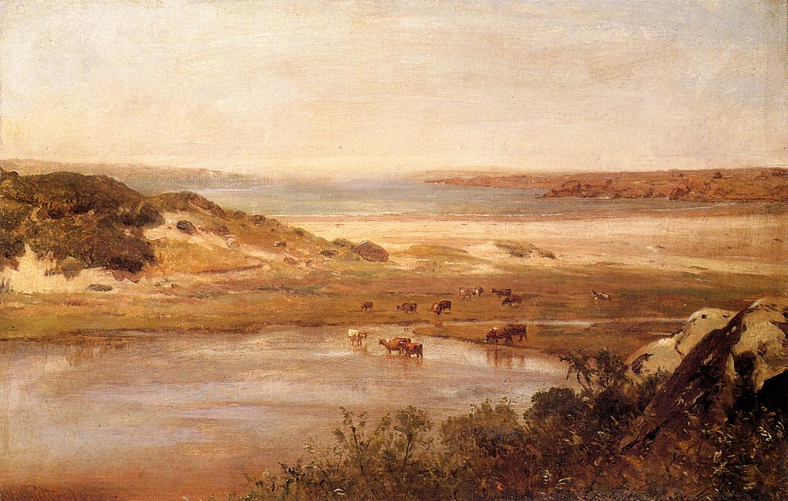 Landscape with River 1881-1889 | Thomas Worthington Whittredge | Oil Painting