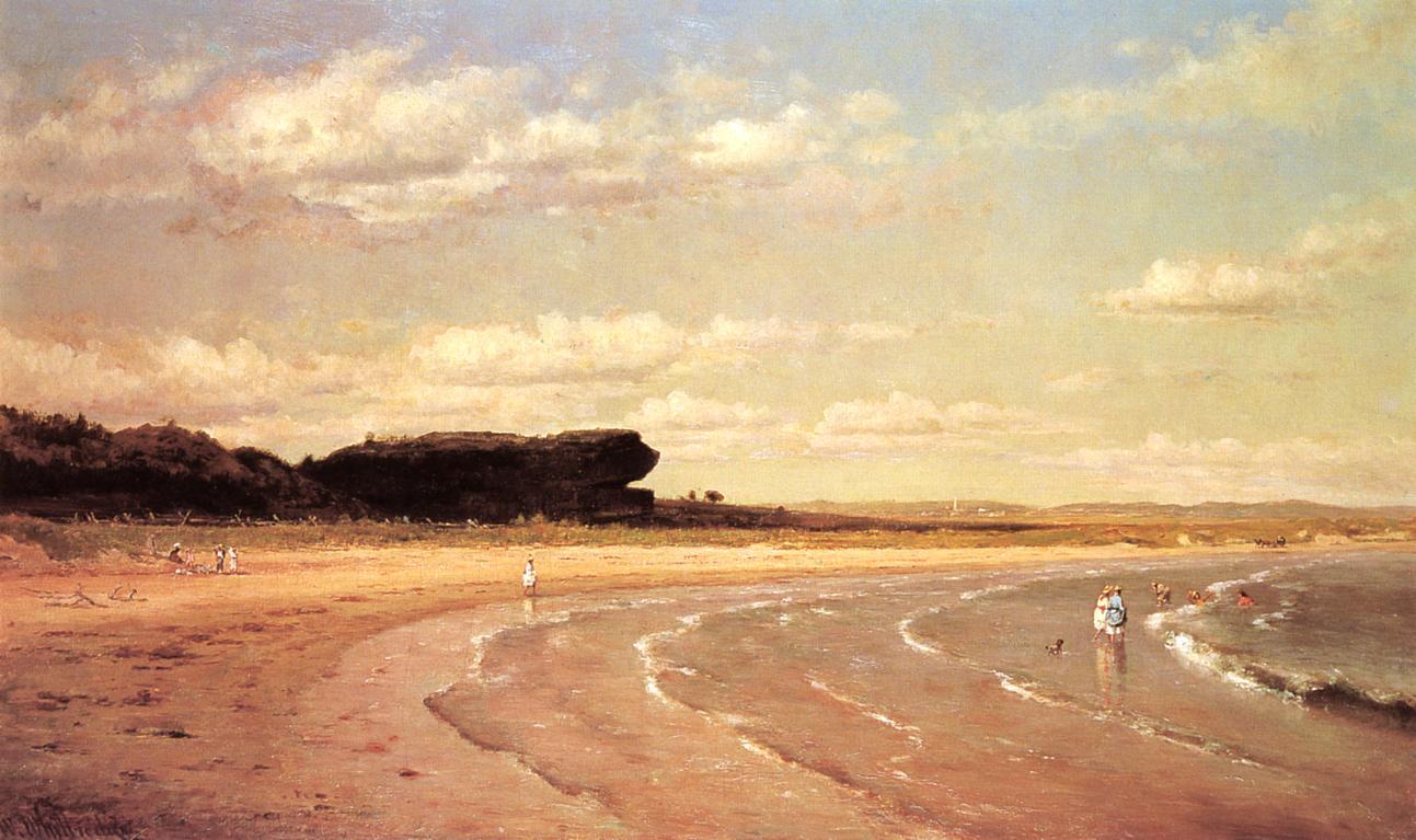 Second Beach Newport 1878-1880 | Thomas Worthington Whittredge | Oil Painting