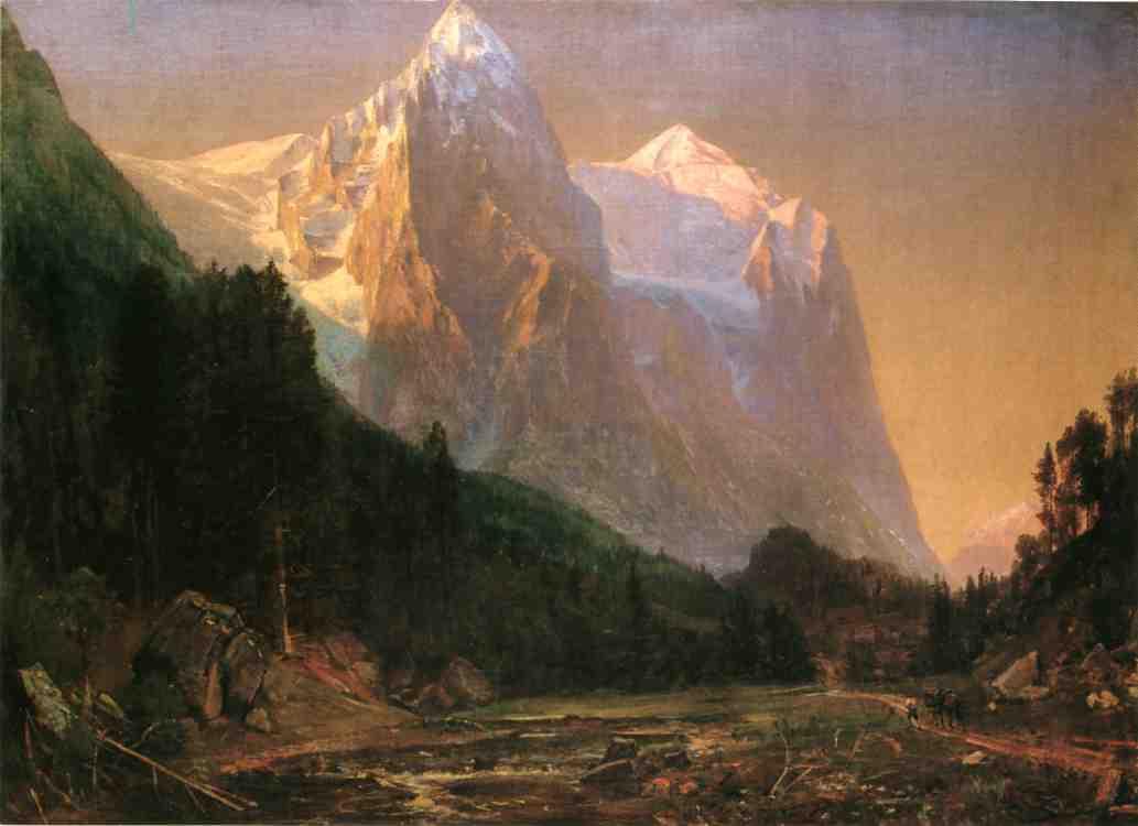 Sunrise on the Wetterhorn 1858 | Thomas Worthington Whittredge | Oil Painting