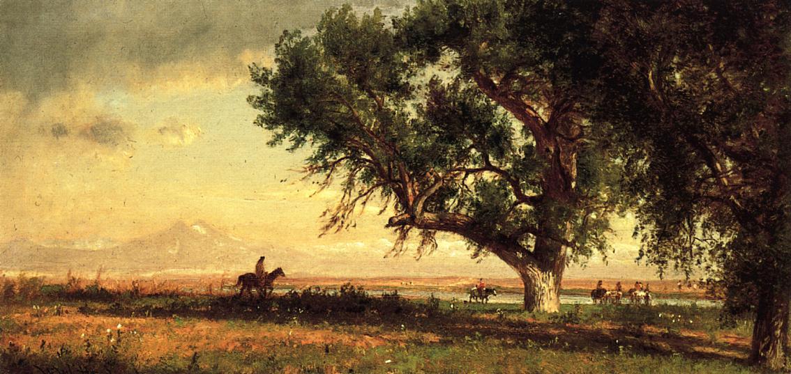 View of the Platte River 1871 | Thomas Worthington Whittredge | Oil Painting