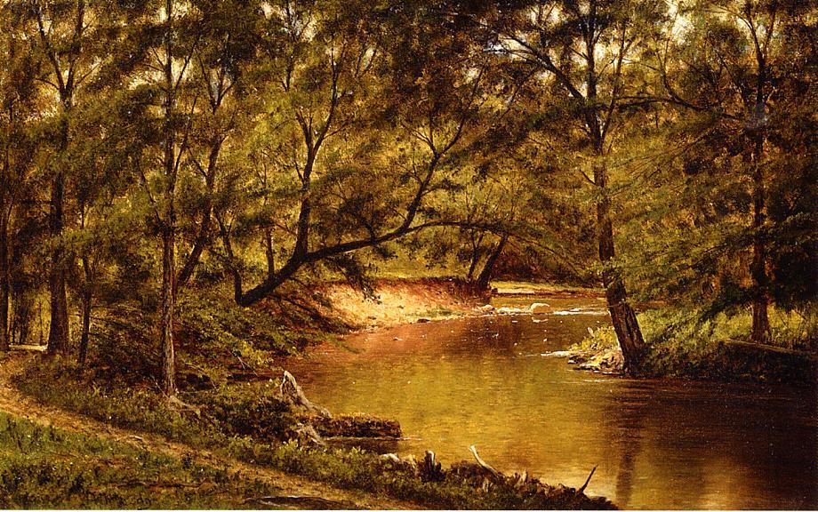 Woodland Interior 1872-1875 | Thomas Worthington Whittredge | Oil Painting