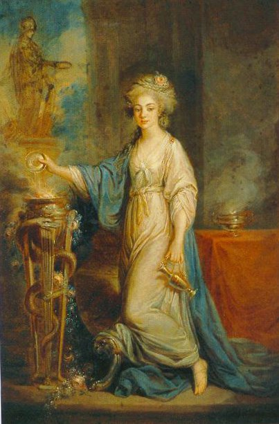 Portrait Of A Woman As A Vestal Virgin Undated | Angelica Kauffmann | Oil Painting