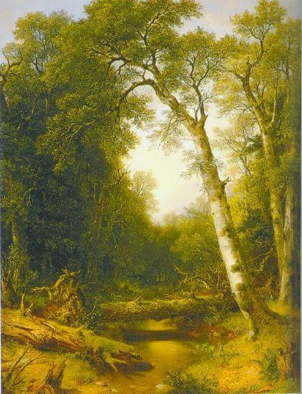 A Stream In The Wood 1865 | Asher B Durand | Oil Painting
