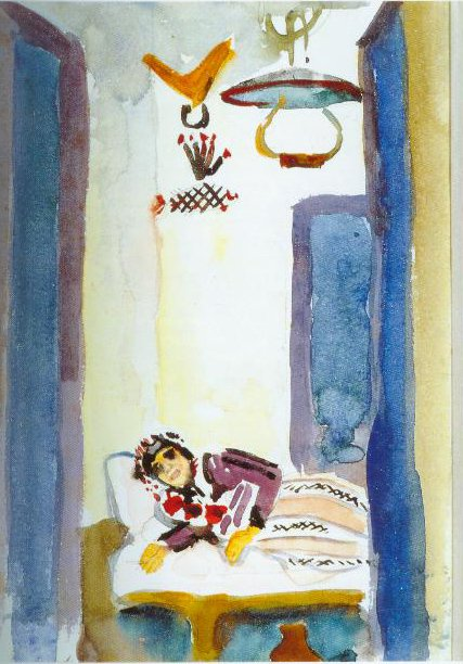 Woman On A Couch 1914 | August Macke | Oil Painting