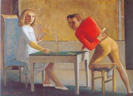 The Card Game 1948 1950 | Balthus Balthazar Klossowski De Rola | Oil Painting