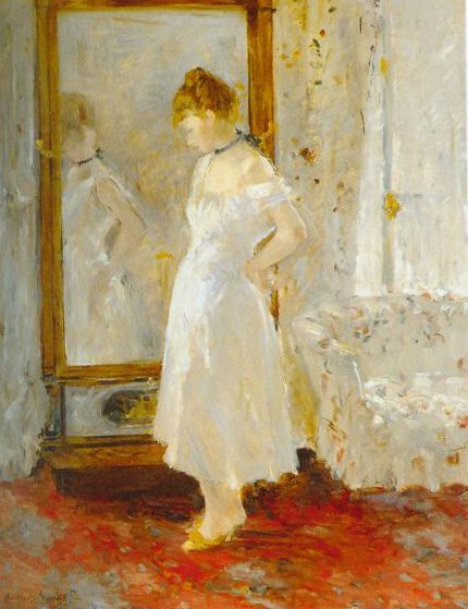 The Cheval Glass 1877 1879 | Berthe Morisot | Oil Painting