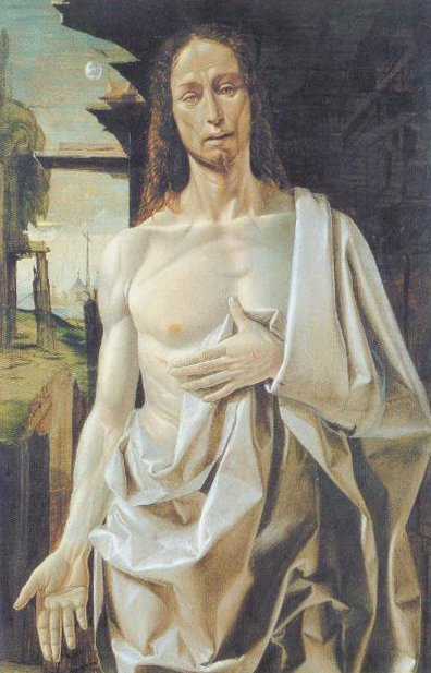 The Risen Christ 1490 | Bramantino Bartolomeo Suardi | Oil Painting