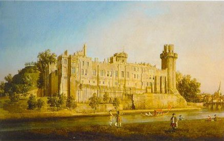 Facade Of Warwick Castle 1749 | Canaletto | Oil Painting