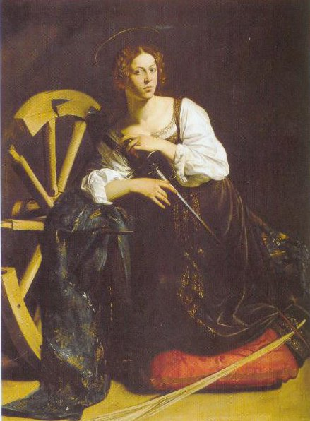 St Catherine Of Alexandria 1597 | Caravaggio | Oil Painting
