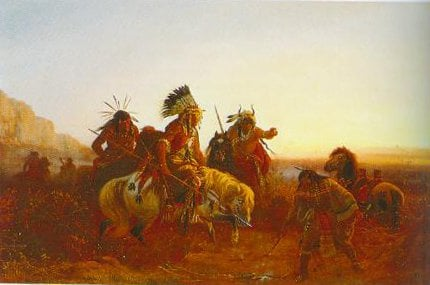 The Lost Trail 1856 | Carl Wimar | Oil Painting