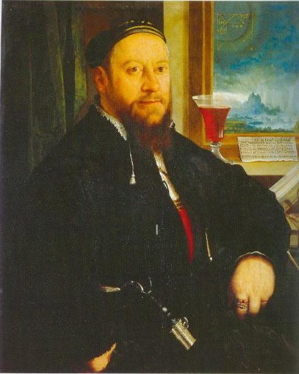 Portrait Of Matthaus Schwarz 1542 | Christoph Amberger | Oil Painting