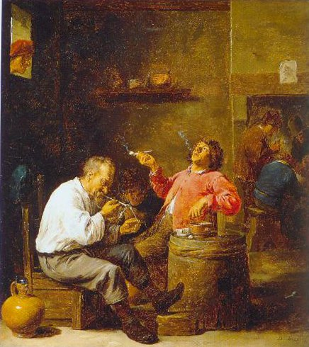 Smokers In An Interior 1637 | David Teniers The Younger | Oil Painting