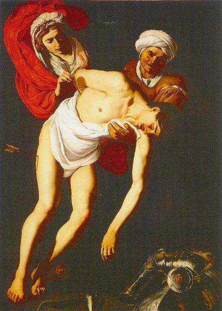 St Sebastian Attended By St Irene And Her Maid 1615 | Dirk Jaspersz Van Baburen | Oil Painting