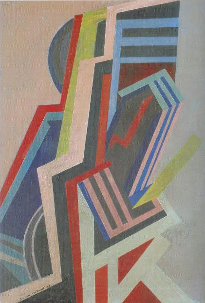 Vorticist Abstraction 1915 | Edward Wadsworth | Oil Painting