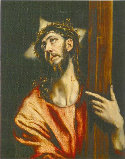 Christ Holding The Cross 1602 1607 | El Greco | Oil Painting