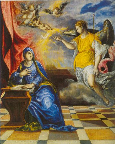 The Annunciation Italian Period 1567 1577 | El Greco | Oil Painting