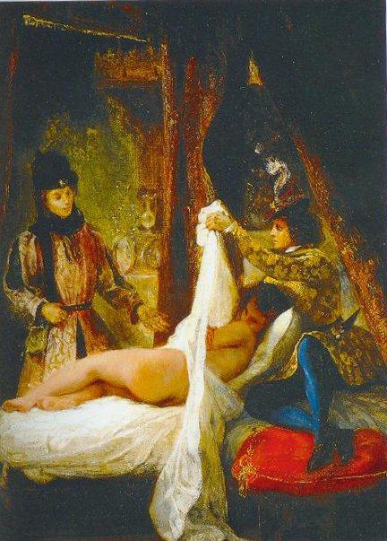 The Duke Of Orleans Showing His Lover To The Duke Of Burgundy 1825 1826 | Eugene Delacroix | Oil Painting