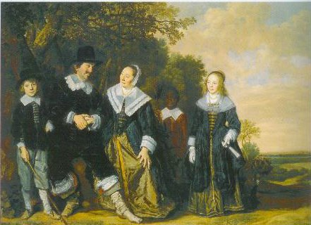 Family Group With A Servant In A Landscape 1648 | Frans Hals | Oil Painting