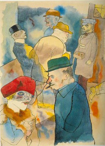 Twilight 1922 | George Grosz | Oil Painting