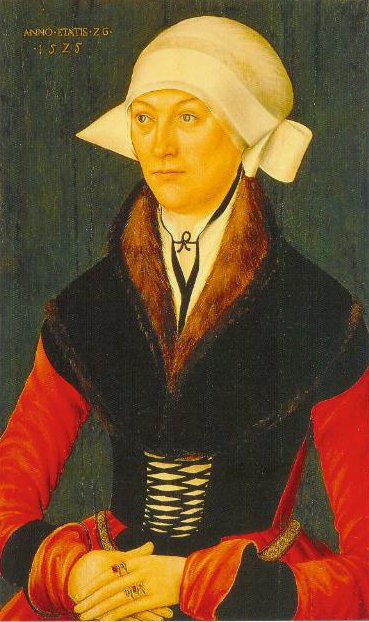 Portrait Of A Woman Age 26 1525 | German Master Of The School Of Lucas Cranach The Elder | Oil Painting