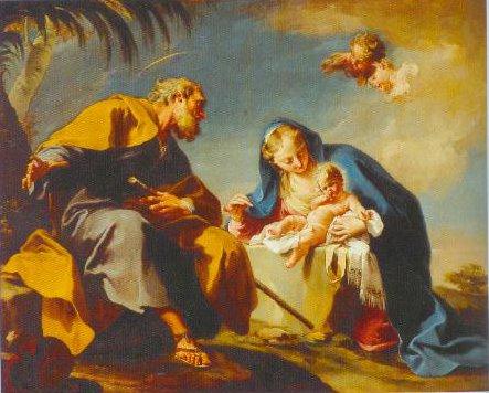 The Rest On The Flight Into Egypt 1525 1527   Giovanni Battista Pittoni   Oil Painting