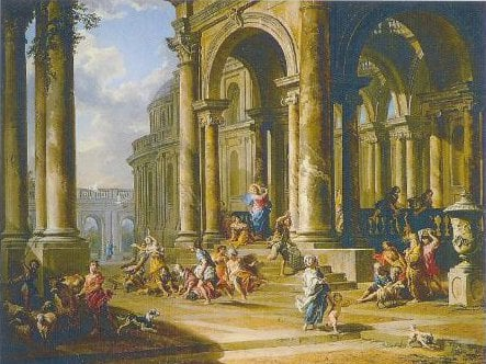 The Expulsion Of The Money Changers From The Temple 1724 | Giovanni Panini | Oil Painting
